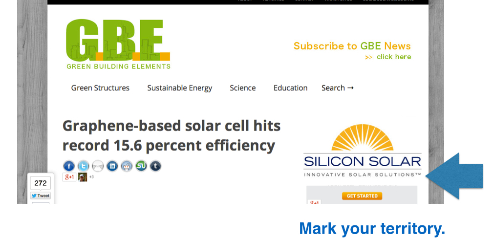 Geotargeted solar advertising